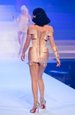 Dita Von Teese Walks the runway during the Jean-Paul Gaultier Fashion Show in Paris
