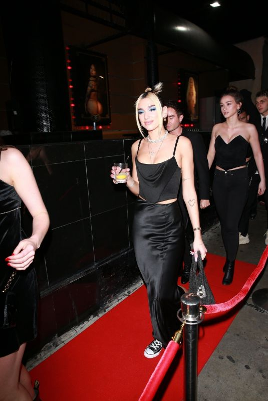 Dua Lipa and her boyfriend Anwar Hadid arrive at a Grammys After Party
