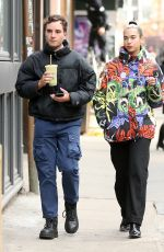 Dua Lipa Walks home with a friend in New York City