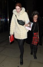 Eleanor Tomlinson Leaving the Royal Opera House in London