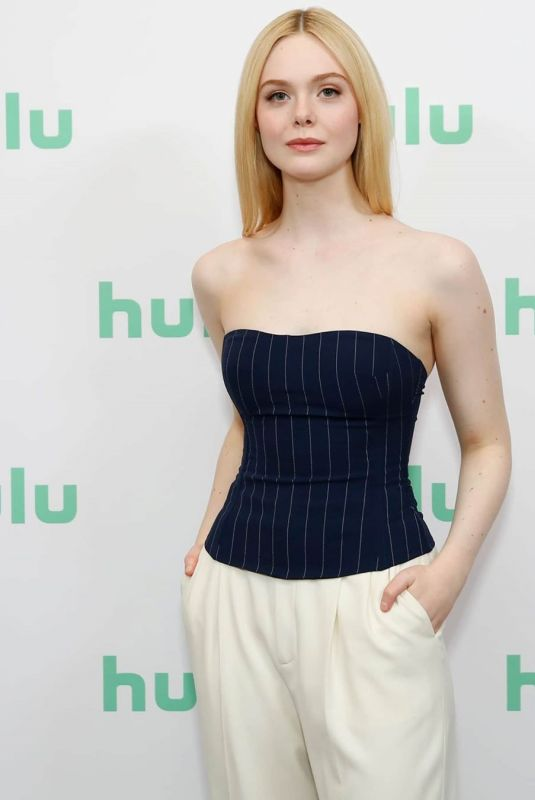 Elle Fanning At Hulu Panel at Winter TCA in Pasadena