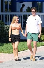 Ellie Goulding In Bikini Top in Miami