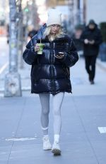Elsa Hosk Out grabbing a green juice in New York