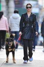 Emily Ratajkowski Walking Colombo in NYC