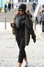 Emma Barton Leaves the hotel for the Strictly Come Dancing Live Tour Photocall in Manchester
