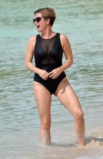 Emma Forbes Showcases her slender figure while enjoying winter holiday in Barbados