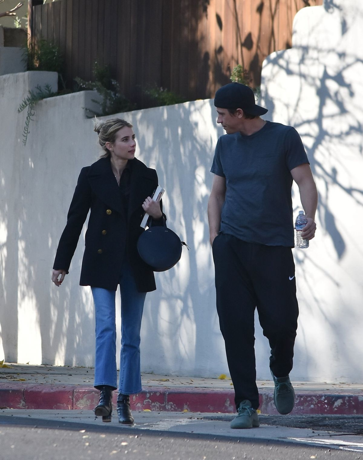 Emma Roberts Chats with her boyfriend while out in Studio ...