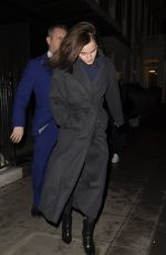 Emma Watson Leaving C restaurant in London