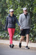 Emmanuelle Chriqui Steps out for a hike session with a friend in Hollywood