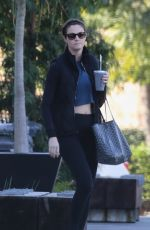 Erin Andrews Seen leaving her workout session in Los Angeles