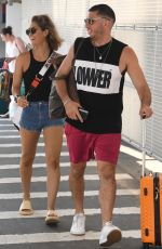 Erin McNaught Seen with her boyfriend at the airport in Sydney, Australia