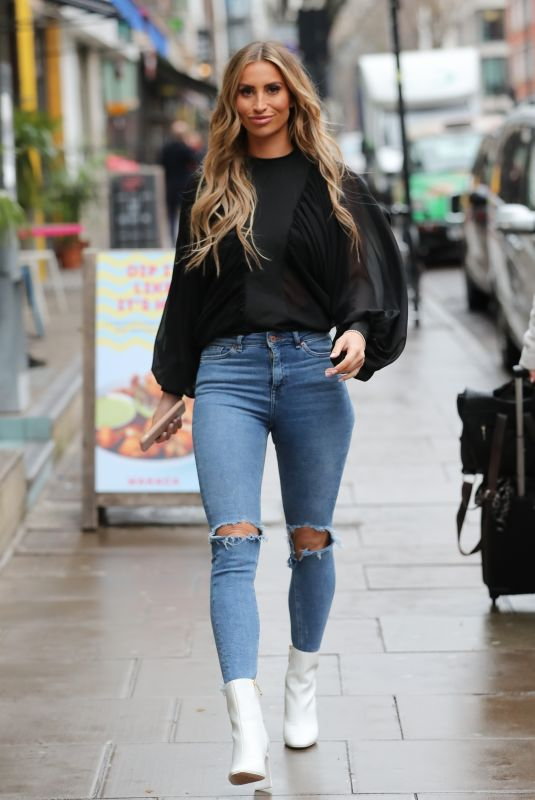 Ferne McCann Arriving for business meeting in Soho, London