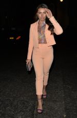 Francesca Allen Seen heading out for dinner with a pal in Mayfair