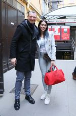 Georgina Rodriguez Arrives at the Italian song festival to try his performance welcomed by the presenter Amadeus