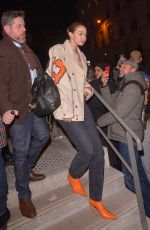 Gigi Hadid Leaves the Jean Paul Gaultier show in Paris