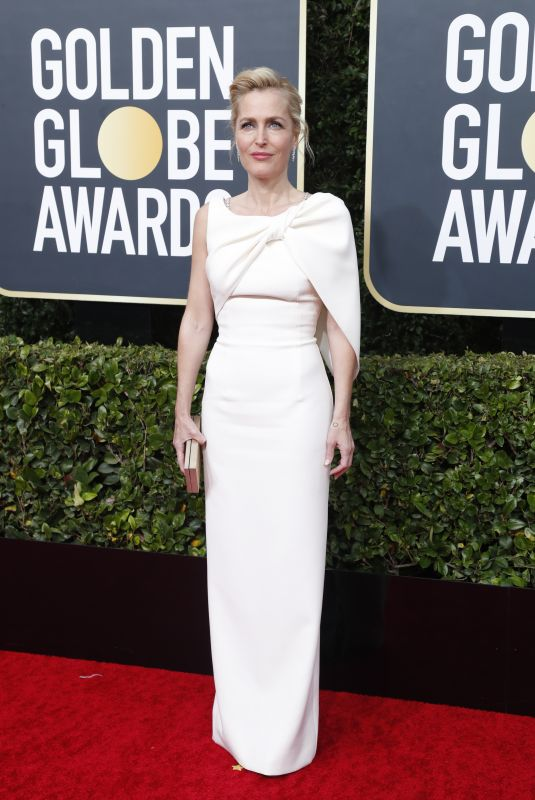 Gillian Anderson At 77th Annual Golden Globe Awards in Beverly Hills