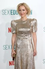 Gillian Anderson At Season 2 World Premiere of Sex Education at Genesis Cinema in London