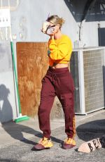 Hailey Bieber At a dance studio in West Hollywood