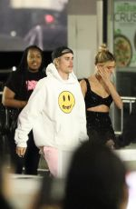 Hailey Bieber & Justin Bieber Arrive for the premiere of his docu-series