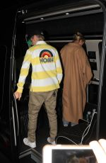 Hailey Bieber & Justin Bieber Hold hands as they leave night church service in Beverly Hills