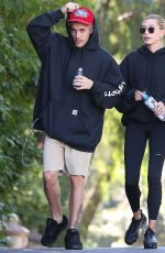 Hailey Bieber & Justin Bieber Seen hiking with friends in Los Angeles