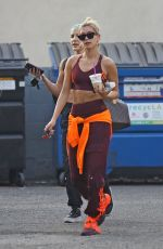 Hailey Bieber Leaves a dance studio in West Hollywood