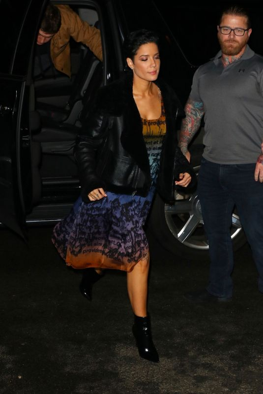 Halsey Arrives at the SNL after-party in New York