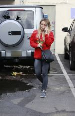 Hilary Duff Arriving at a nail salon in LA