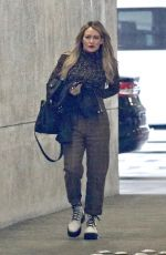 Hilary Duff Shows off a classy look while leaving an office building in Burbank