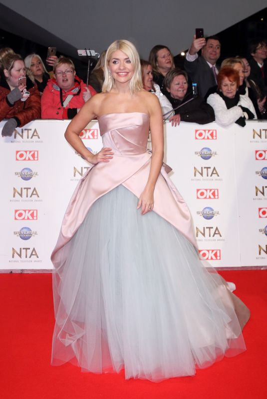 Holly Willoughby At National Television Awards 2020 at The O2 Arena in London