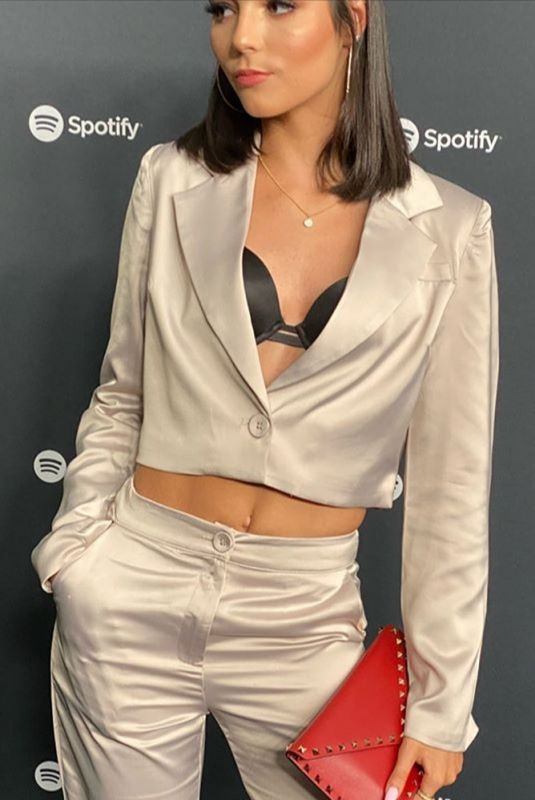 Indiana Massara At Spotify Best New Artist 2020 Party at The Lot Studios in West Hollywood