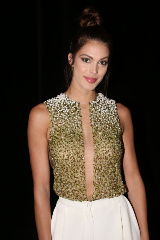 Iris Mittenaere Attends the Stephane Rolland Haute Couture Spring/Summer 2020 show as part of Paris Fashion Week