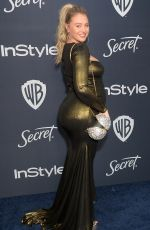 Iskra Arabella Lawrence At 2020 InStyle and Warner Bros Golden Globes Party at the Beverly Hilton Hotel in Beverly Hills