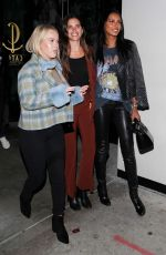 Jasmine Tookes & Sara Sampaio Heading out from Catch in West Hollywood
