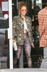 Jennifer Lopez Leaves a gym with friends in Miami