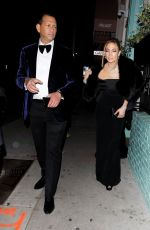Jennifer Lopez Out for dinner after the SAG Awards in West Hollywood