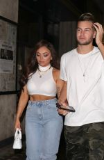 Jesy Nelson & Chris Hughes Leaving Moonshine Saloon celebrating their one-year anniversary in London