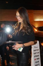 Jordana Brewster Signs autographs for fans as she exits Craigs after dinner in West Hollywood