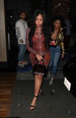 Jordyn Woods Shows off her stunning figure in snakeskin while partying at Avenue night club in Hollywood