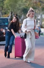Julianne Hough Leaves the office with a friend in Los Angeles