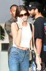 Kaia Gerber Seen during a photoshoot on the beach in Miami