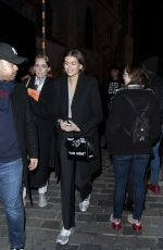 Kaia Gerber Seen leaving Givenchy Haute Couture