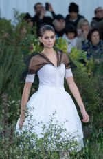 Kaia Gerber Walks the runway during the Chanel Haute Couture Spring/Summer 2020 show in Paris