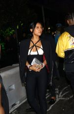 Karrueche Tran Seen at a Grammys after party with a mystery guy in Los Angeles