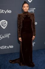 Kat Graham At 2020 InStyle and Warner Bros Golden Globes Party at the Beverly Hilton Hotel in Beverly Hills