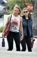 Kate Mara & Kristen Bell Hit the gym together in Los Feliz