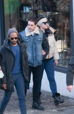 Kelly Brook Seen with her boyfriend in Megève, Switzerland