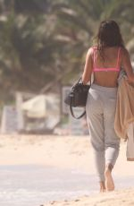 Kelly Gale Out on the beach relaxing after an early morning photo shoot in Mexico