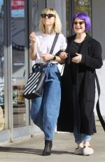Kelly Osbourne Steps out with Lisa Stelly to a nail salon appointment