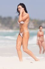 Kelsie Jean Smeby In a striking a pose on the beaches of Tulum for an impromptu photoshoot